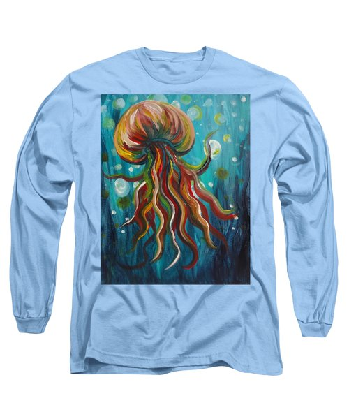 Colorful Jellyfish Long Sleeve T-Shirt