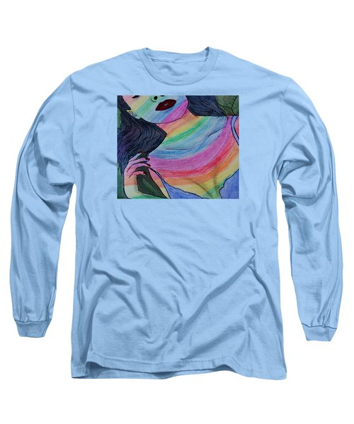 Colorful Lady Long Sleeve T-Shirt