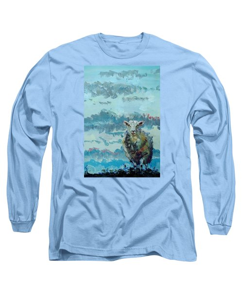 Colorful Sheep Art - Out Of The Stormy Sky Long Sleeve T-Shirt