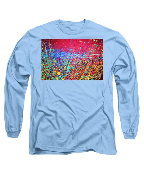 Long Sleeve T-Shirt featuring the digital art Colorful Spring by Maja Sokolowska