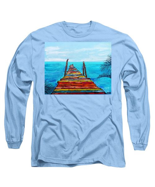 Colorful Tropical Pier Long Sleeve T-Shirt