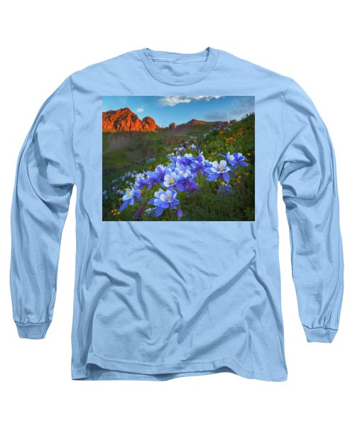 Long Sleeve T-Shirt featuring the photograph Columbine Sunrise by Darren White