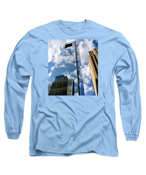 Long Sleeve T-Shirt featuring the photograph Comcast Center by Christopher Woods