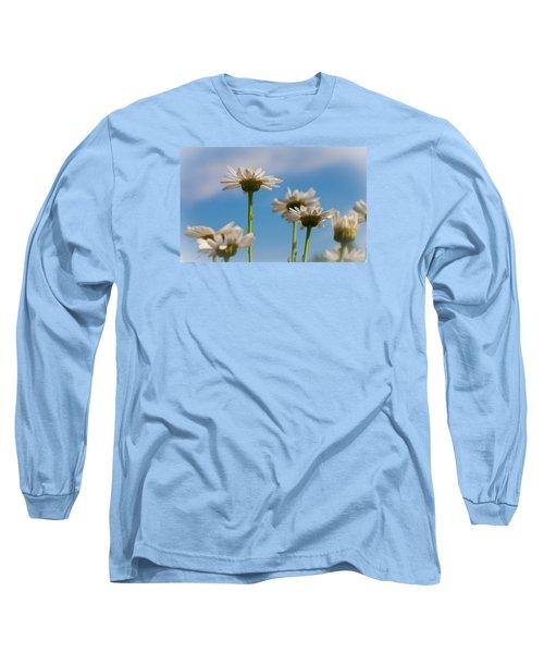 Coming Up Daisies Long Sleeve T-Shirt by Christina Lihani