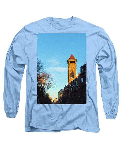 Commonwealth Avenue In Boston Long Sleeve T-Shirt