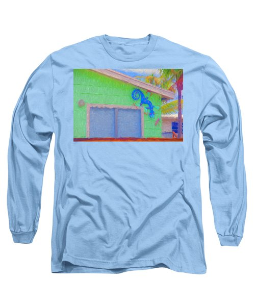 Conch Key Lizard Wall Art Long Sleeve T-Shirt