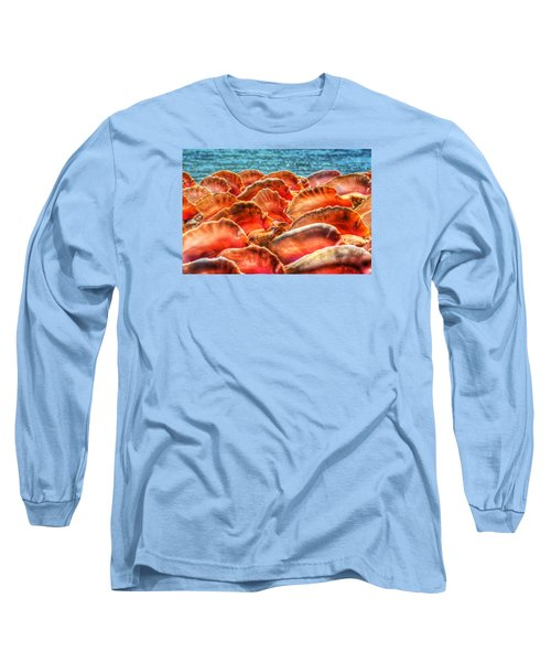 Conch Parade Long Sleeve T-Shirt by Jeremy Lavender Photography