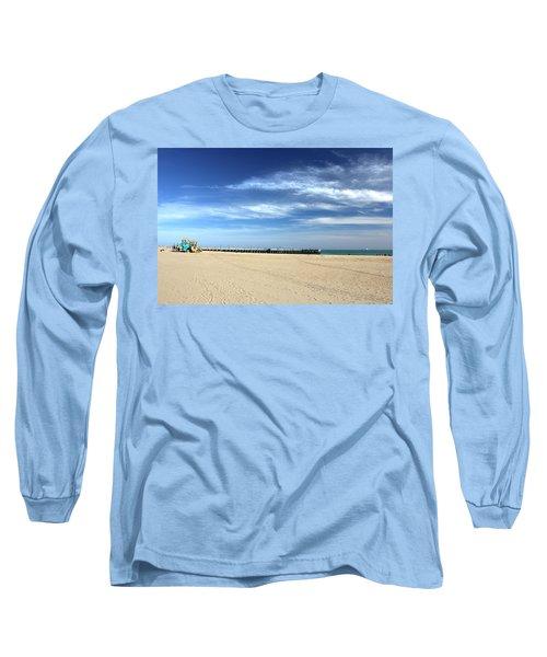 Coney Island Beach Long Sleeve T-Shirt