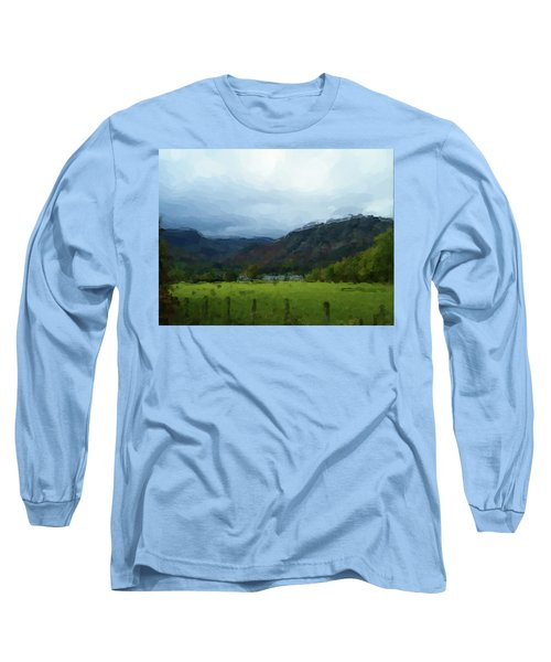 Coniston Watercolour Sketch Long Sleeve T-Shirt