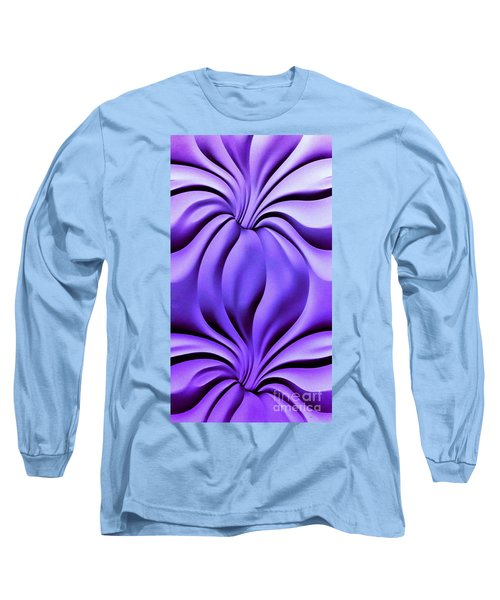 Contemplation In Purple Long Sleeve T-Shirt