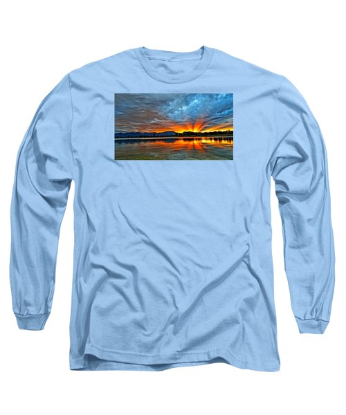 Cool Nightfall Long Sleeve T-Shirt by Eric Dee