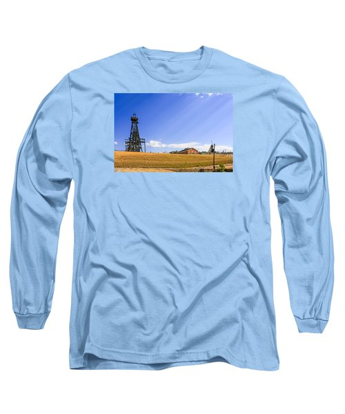 Copper Mining In Montana Long Sleeve T-Shirt by Chris Smith