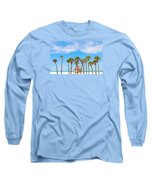 Coquina Beach Anna Maria Island Long Sleeve T-Shirt by Margie Amberge