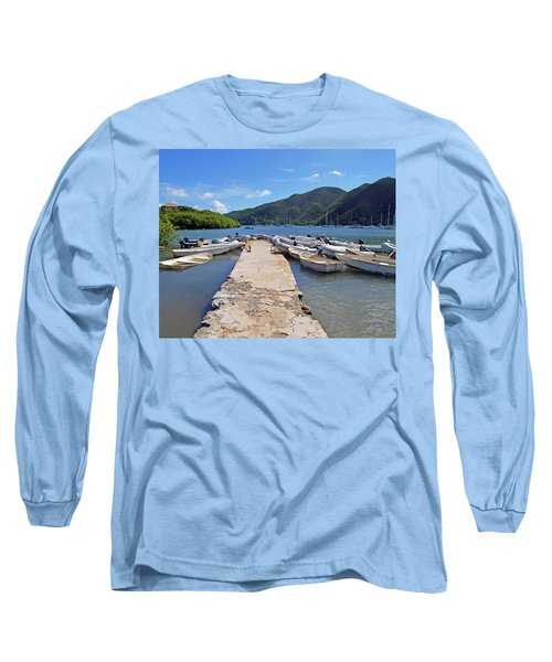 Coral Bay Dinghy Dock Long Sleeve T-Shirt