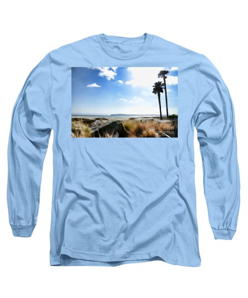 Coronado - Digital Painting Long Sleeve T-Shirt by Sharon Soberon