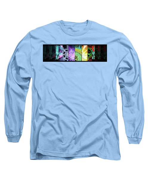 Long Sleeve T-Shirt featuring the mixed media Cosmic Collage Mosaic by Shawn Dall
