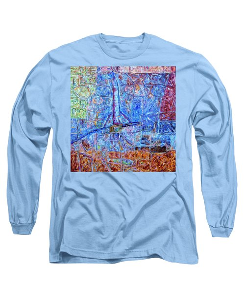 Long Sleeve T-Shirt featuring the painting Cosmodrome by Dominic Piperata