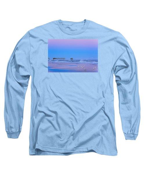 Cotton Candy Sunset Long Sleeve T-Shirt by Joni Eskridge
