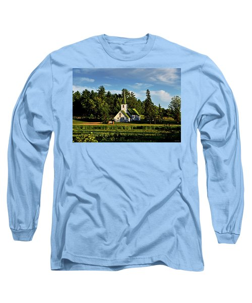 Long Sleeve T-Shirt featuring the photograph Country Church 003 by George Bostian