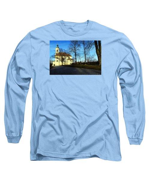 Country Church Long Sleeve T-Shirt by Christian Slanec