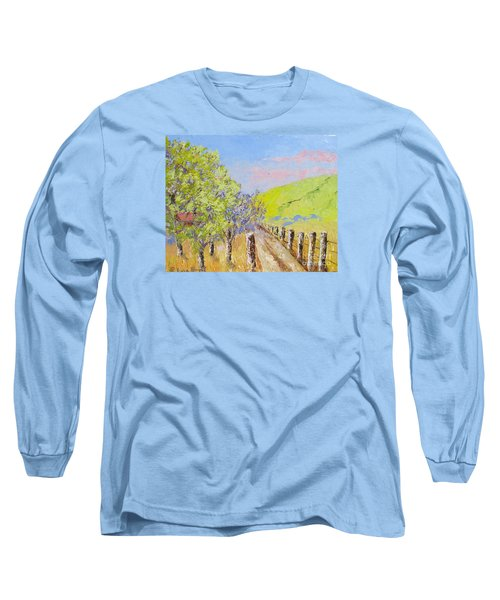 Country Road Pallet Knife Long Sleeve T-Shirt by Lisa Boyd