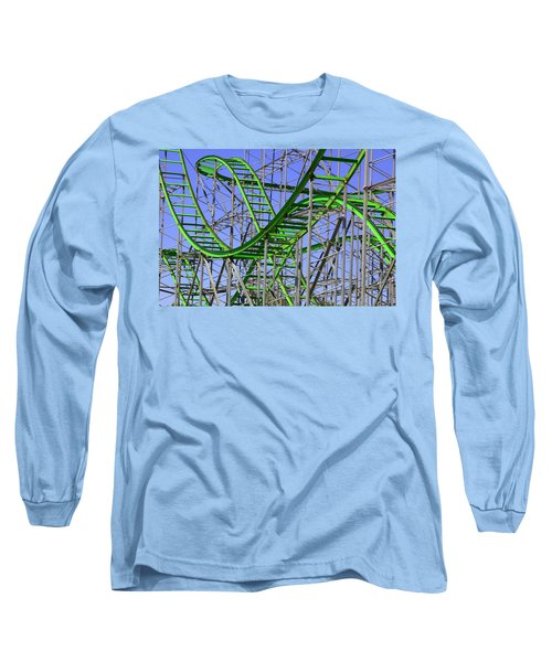 County Fair Thrill Ride Long Sleeve T-Shirt by Joe Kozlowski