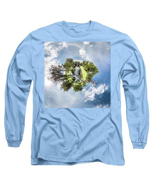 Long Sleeve T-Shirt featuring the photograph Covered Bridge by Randy Scherkenbach