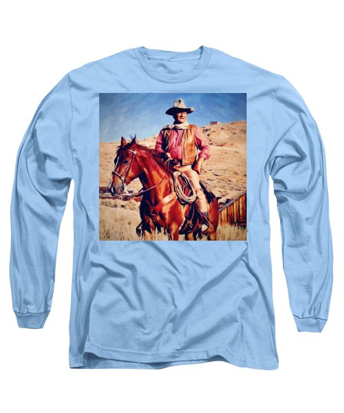 Cowboy John Wayne Long Sleeve T-Shirt