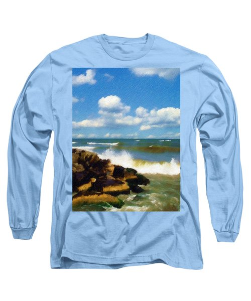 Crashing Into Shore Long Sleeve T-Shirt