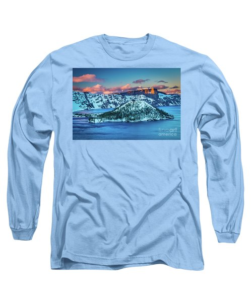 Crater Lake Dusk Long Sleeve T-Shirt