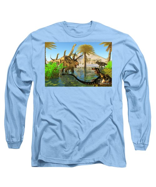 Cretaceous Swamp Long Sleeve T-Shirt