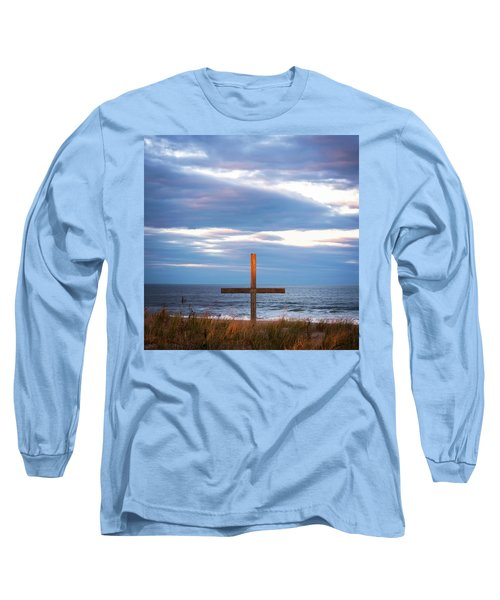 Cross Light Square Long Sleeve T-Shirt by Terry DeLuco