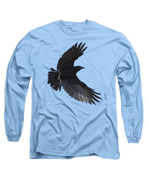 Long Sleeve T-Shirt featuring the photograph Crow In Flight by Bradford Martin