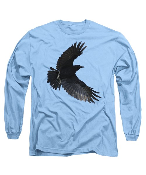 Crow In Flight Long Sleeve T-Shirt