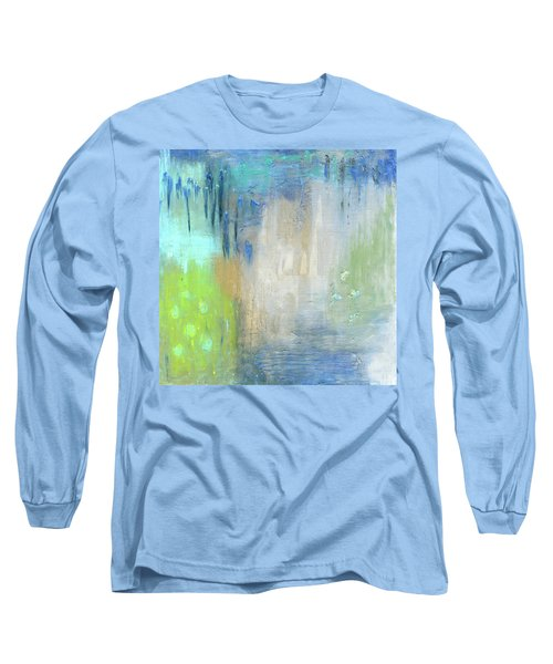 Long Sleeve T-Shirt featuring the painting Crystal Deep  by Michal Mitak Mahgerefteh