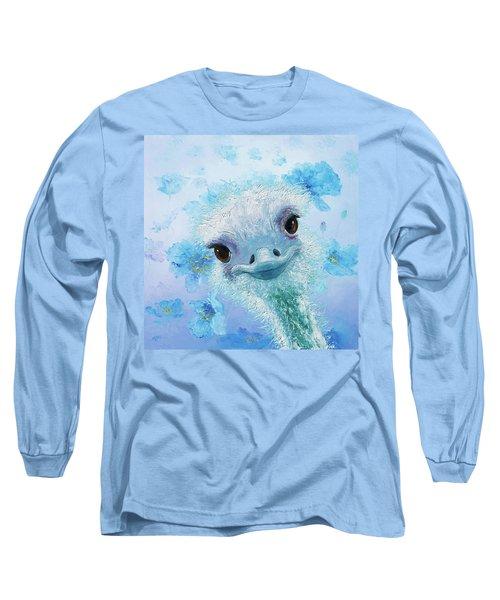 Curious Ostrich Long Sleeve T-Shirt