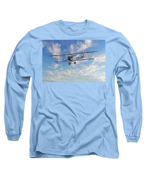 Curtiss Jn-4h Biplane Long Sleeve T-Shirt by Jerry Fornarotto
