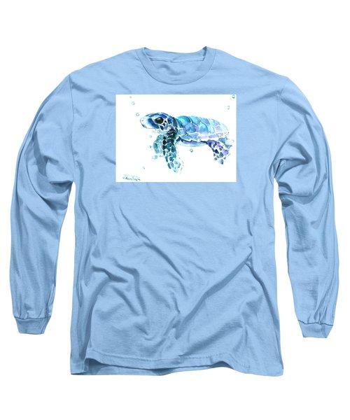 Cute Baby Turtle Long Sleeve T-Shirt by Suren Nersisyan