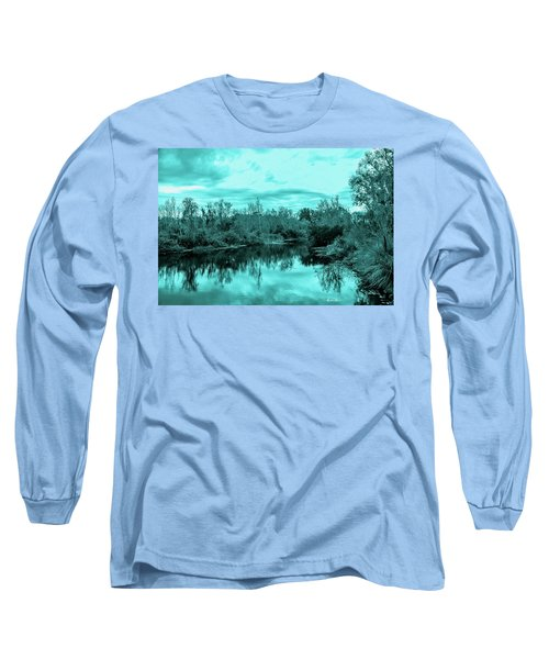 Long Sleeve T-Shirt featuring the photograph Cyan Dreaming - Sarasota Pond by Madeline Ellis