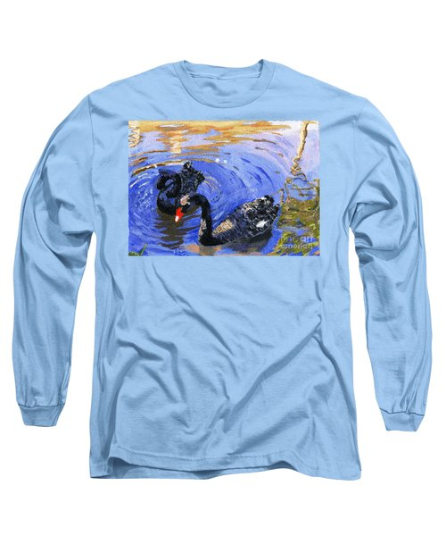 Cygnus Atratus Long Sleeve T-Shirt by Lynne Reichhart