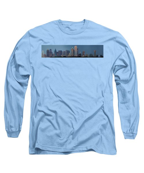 Long Sleeve T-Shirt featuring the photograph Dallas At Night by Jonathan Davison