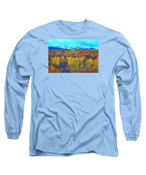 Dallas Divide Palette  Long Sleeve T-Shirt by Bijan Pirnia
