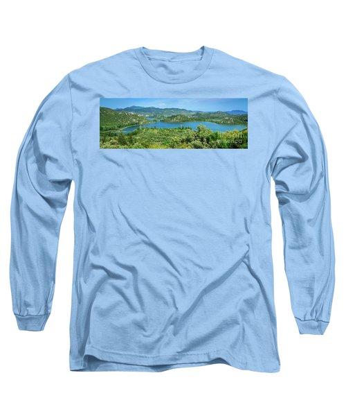 Dalmatian Coast Panorama, Dalmatia, Croatia Long Sleeve T-Shirt