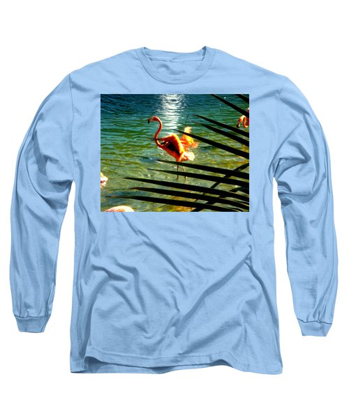Dancing Flamingo Long Sleeve T-Shirt