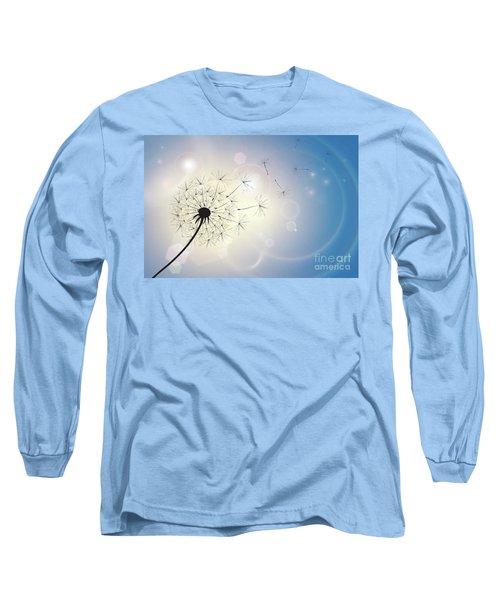 Dandelion In A Summer Breeze Long Sleeve T-Shirt