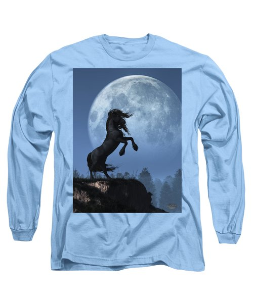 Dark Horse And Full Moon Long Sleeve T-Shirt