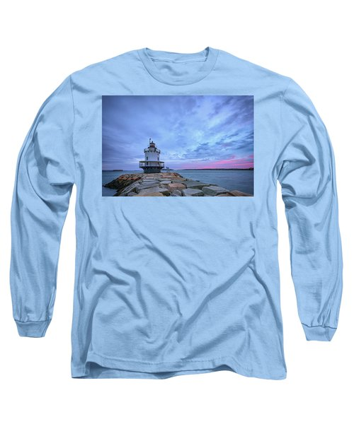 Dawn At Spring Point Ledge Lighthouse Long Sleeve T-Shirt