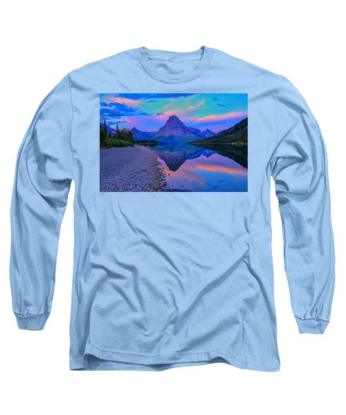 Long Sleeve T-Shirt featuring the photograph Dawn At Two Medicine Lake by Greg Norrell