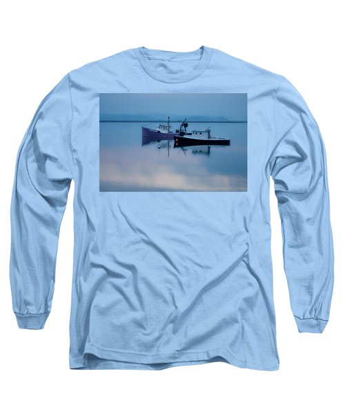 Long Sleeve T-Shirt featuring the photograph Dawn Rising Over The Harbor by Jeff Folger