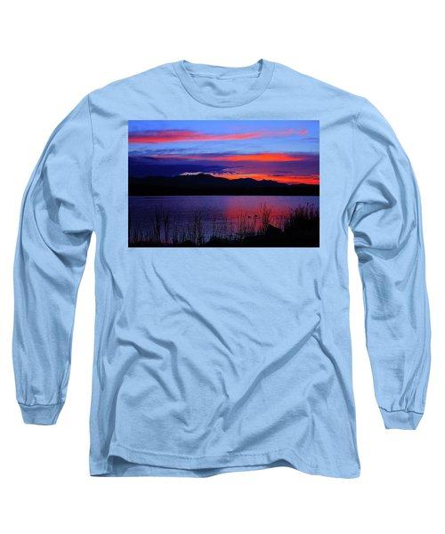 Daybreak Sunset Long Sleeve T-Shirt by Paul Marto